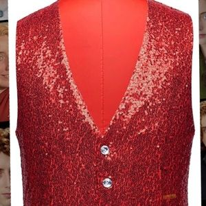Red sequined Vest - Worn Once